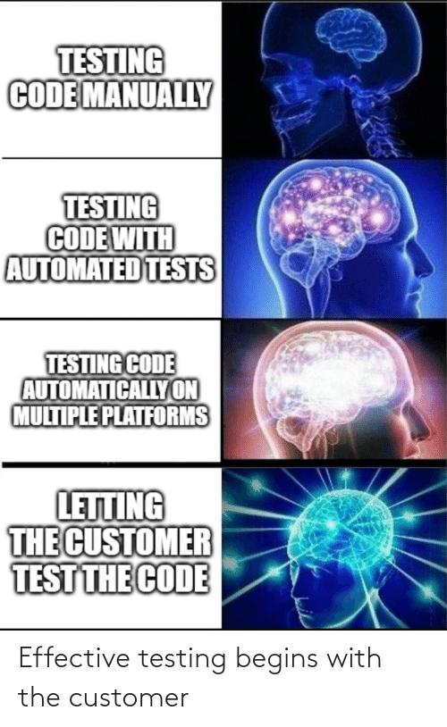 Begins: Effective testing begins with the customer