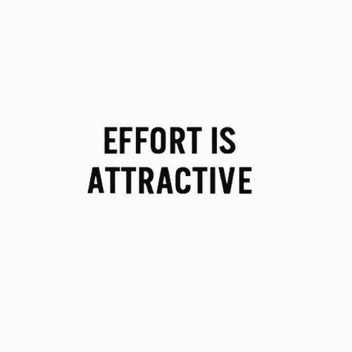 Attractive and Effort: EFFORT IS  ATTRACTIVE