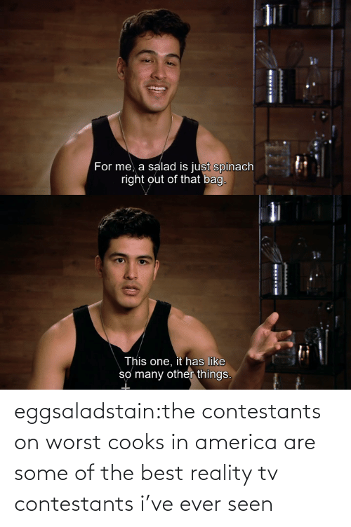 in america: eggsaladstain:the contestants on worst cooks in america are some of the best reality tv contestants i've ever seen