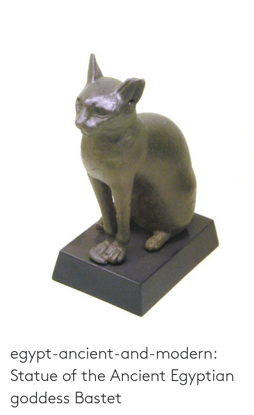Egypt: egypt-ancient-and-modern:  Statue of the Ancient Egyptian goddess Bastet