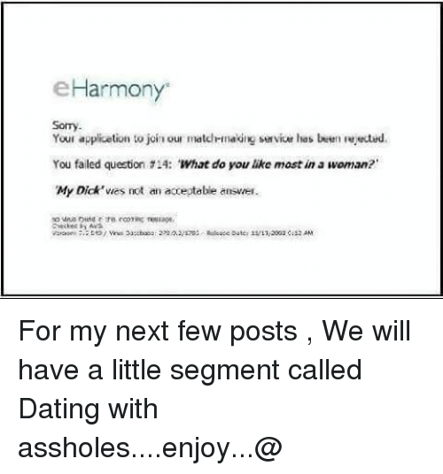 Opinion the eharmony image my dick consider, that