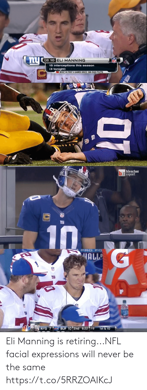will: Eli Manning is retiring...NFL facial expressions will never be the same https://t.co/5RRZOAIKcJ