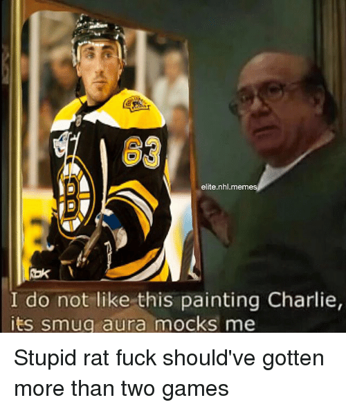 Elite Nhlmemes I Do Not Like This Painting Charlie Its Smug Aura