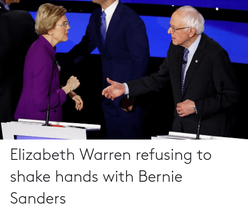 Bernie Sanders: Elizabeth Warren refusing to shake hands with Bernie Sanders