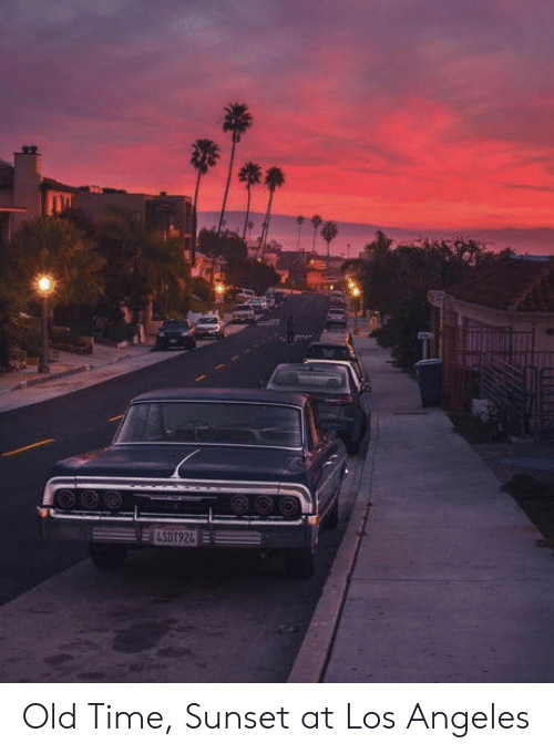 Los Angeles, Sunset, and Time: ELSOT924 Old Time, Sunset at Los Angeles