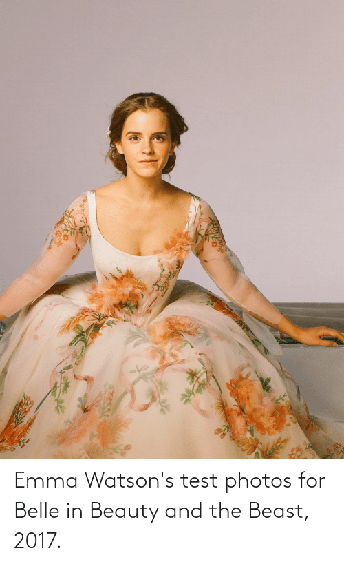 Beauty and the Beast: Emma Watson's test photos for Belle in Beauty and the Beast, 2017.