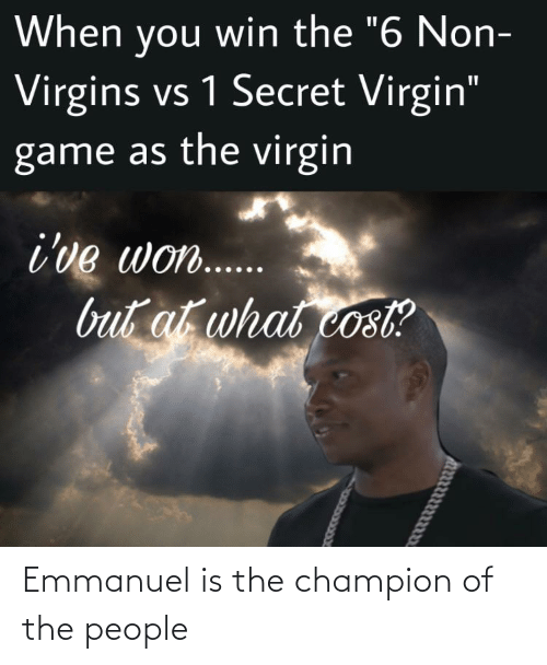 Of The People: Emmanuel is the champion of the people