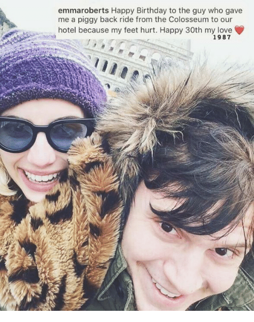 colosseum: emmaroberts Happy Birthday to the guy who gave  me a piggy back ride from the Colosseum to our  hotel because my feet hurt. Happy 30th my love  1987