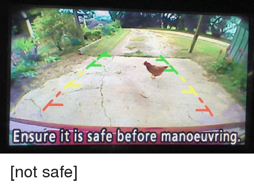 Ensure, Safe, and Not: Ensure it is safe before manoeuvring [not safe]