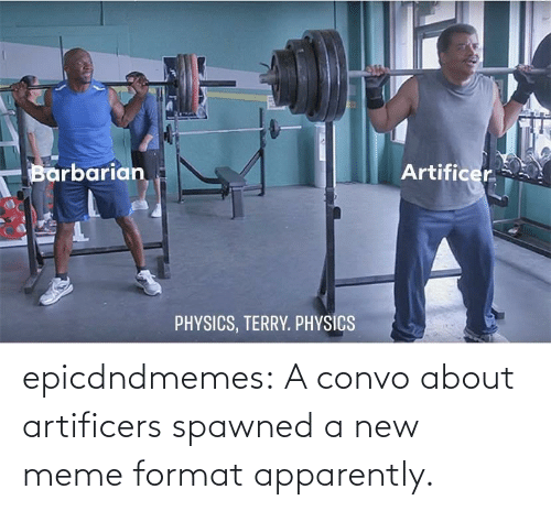 format: epicdndmemes:  A convo about artificers spawned a new meme format apparently.