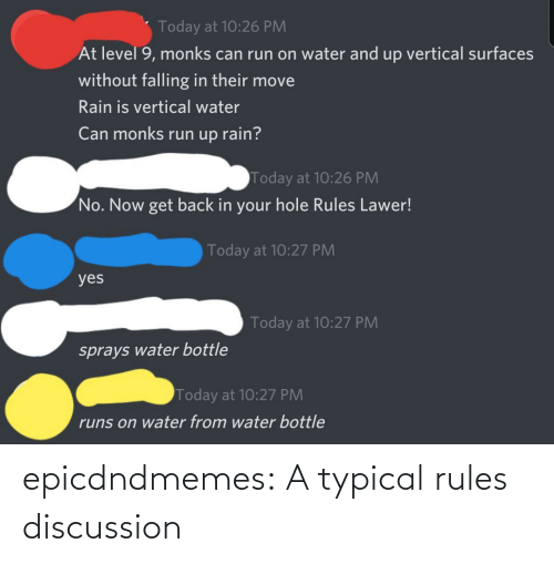 Rules: epicdndmemes:  A typical rules discussion