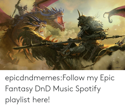 epic: epicdndmemes:Follow my Epic Fantasy DnD Music Spotify playlist here!