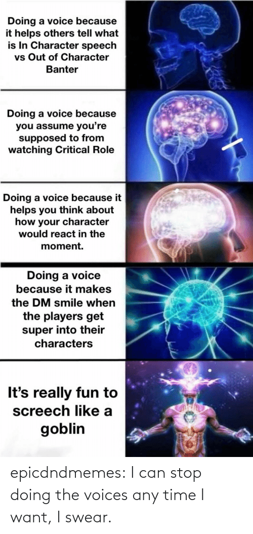 A Href: epicdndmemes:  I can stop doing the voices any time I want, I swear.