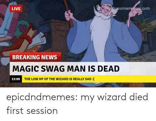 A Href: epicdndmemes:  my wizard died first session