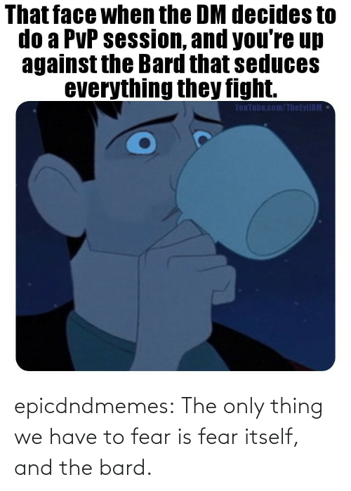 Only: epicdndmemes:  The only thing we have to fear is fear itself, and the bard.