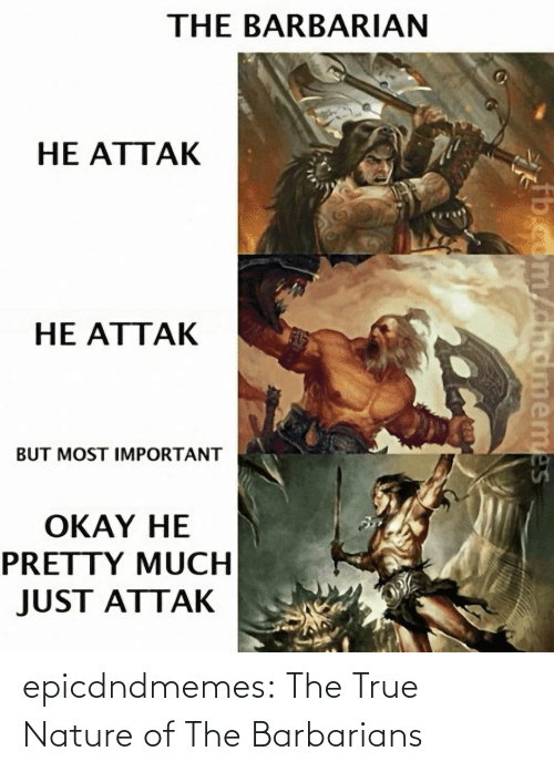 A Href: epicdndmemes:  The True Nature of The Barbarians