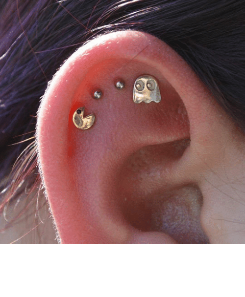 ear: epicjohndoe:  Pac-Man Ear Piercing