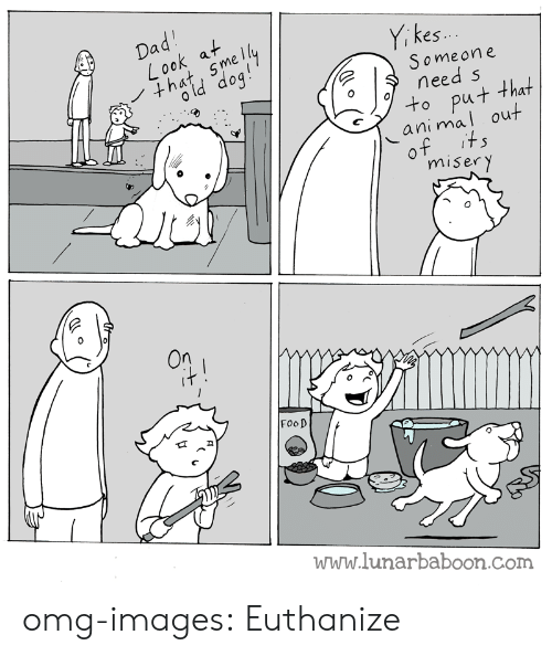 miser: es.  Someon e  need s  ut that  al out  ani m  miser y  FooD  www.lunarbaboon.com omg-images:  Euthanize