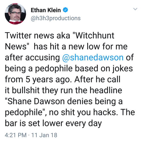 f8debc3ef4d83 Ethan Klein Twitter News Aka Witchhunt News Has Hit a New Low for Me ...