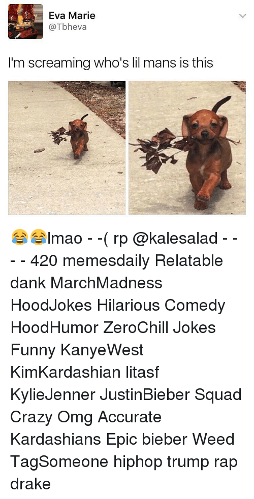 Hilariousness: Eva Marie  @Tbheva  I'm screaming who's lil mans is this 😂😂lmao - -( rp @kalesalad - - - - 420 memesdaily Relatable dank MarchMadness HoodJokes Hilarious Comedy HoodHumor ZeroChill Jokes Funny KanyeWest KimKardashian litasf KylieJenner JustinBieber Squad Crazy Omg Accurate Kardashians Epic bieber Weed TagSomeone hiphop trump rap drake