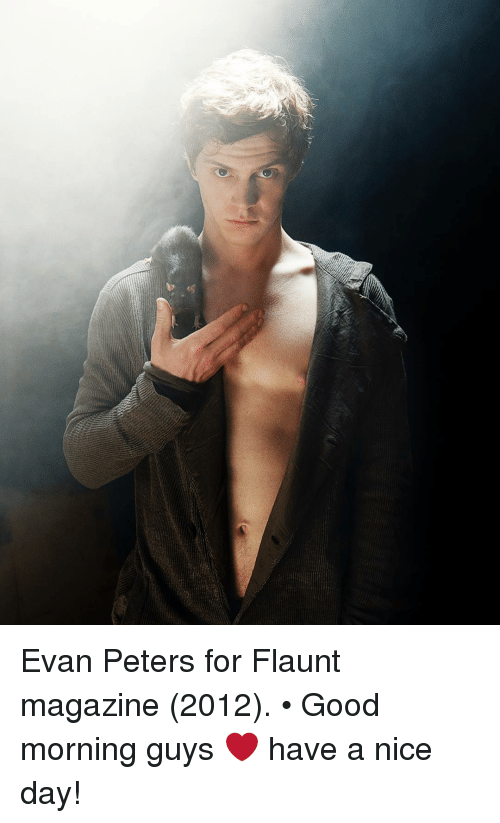 Evan Peters: Evan Peters for Flaunt magazine (2012). • Good morning guys ❤️ have a nice day!
