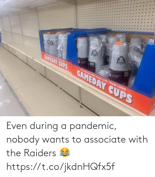 Raiders: Even during a pandemic, nobody wants to associate with the Raiders 😂 https://t.co/jkdnHQfx5f