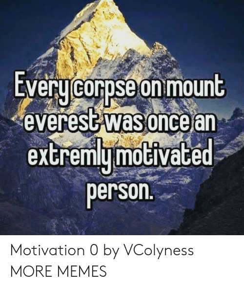 Dank, Memes, and Target: EVeru corpse on mount  everest was oncear  extremymoGiVace  person Motivation 0 by VColyness MORE MEMES