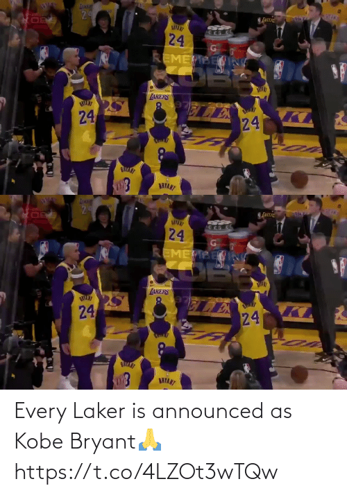 Kobe: Every Laker is announced as Kobe Bryant🙏 https://t.co/4LZOt3wTQw