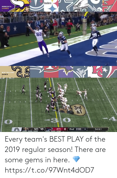 Teams: Every team's BEST PLAY of the 2019 regular season!   There are some gems in here. 💎 https://t.co/97Wnt4dOD7