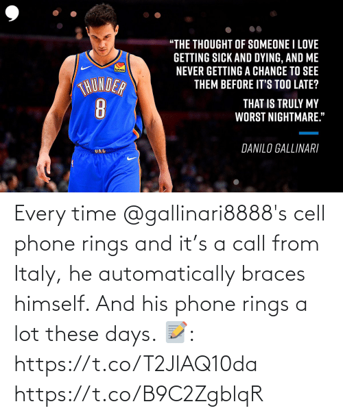 automatically: Every time @gallinari8888's cell phone rings and it's a call from Italy, he automatically braces himself. And his phone rings a lot these days.  📝: https://t.co/T2JlAQ10da https://t.co/B9C2ZgblqR