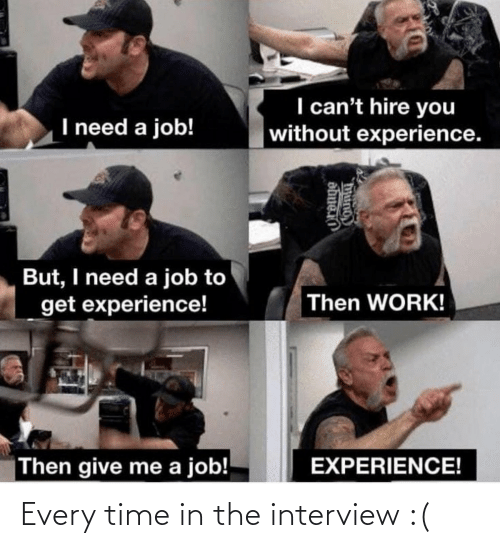 every time: Every time in the interview :(