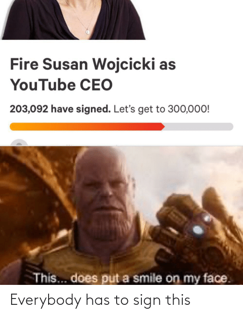 Has: Everybody has to sign this