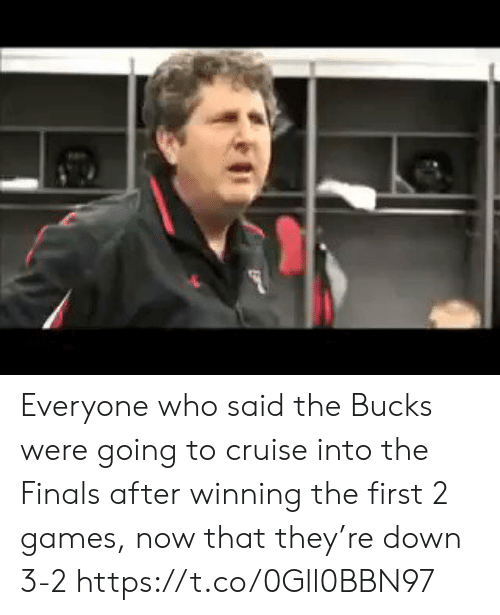 Cruise: Everyone who said the Bucks were going to cruise into the Finals after winning the first 2 games, now that they're down 3-2 https://t.co/0Gll0BBN97