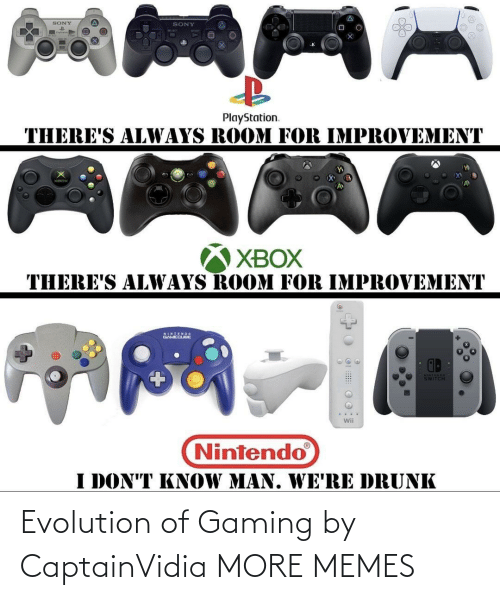 Evolution Of: Evolution of Gaming by CaptainVidia MORE MEMES