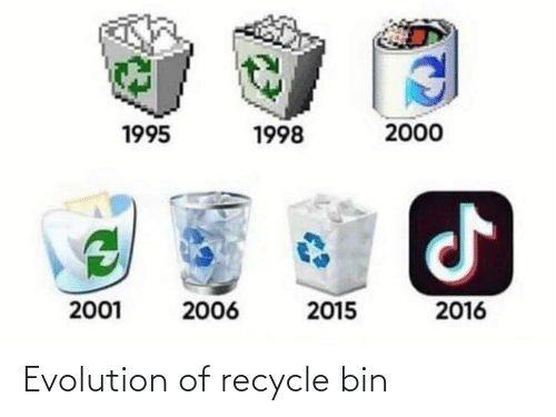 Evolution: Evolution of recycle bin