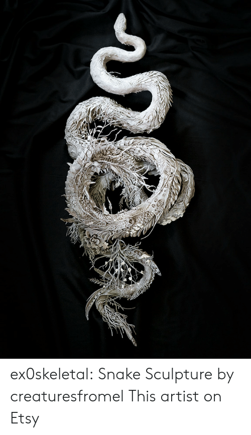 Sculpture: ex0skeletal: Snake Sculpture  by creaturesfromel   This artist on Etsy