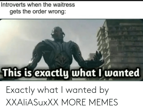 What I: Exactly what I wanted by XXAliASuxXX MORE MEMES