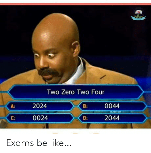 Be like: Exams be like…