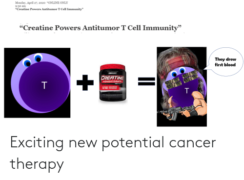 exciting: Exciting new potential cancer therapy