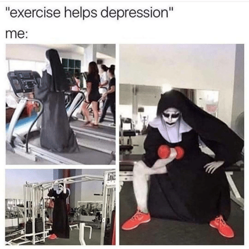 "Depression, Exercise, and Helps: ""exercise helps depression""  me"