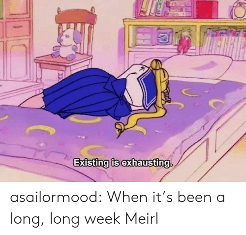 Long Week: Existing is exhausting. asailormood:  When it's been a long, long week  Meirl
