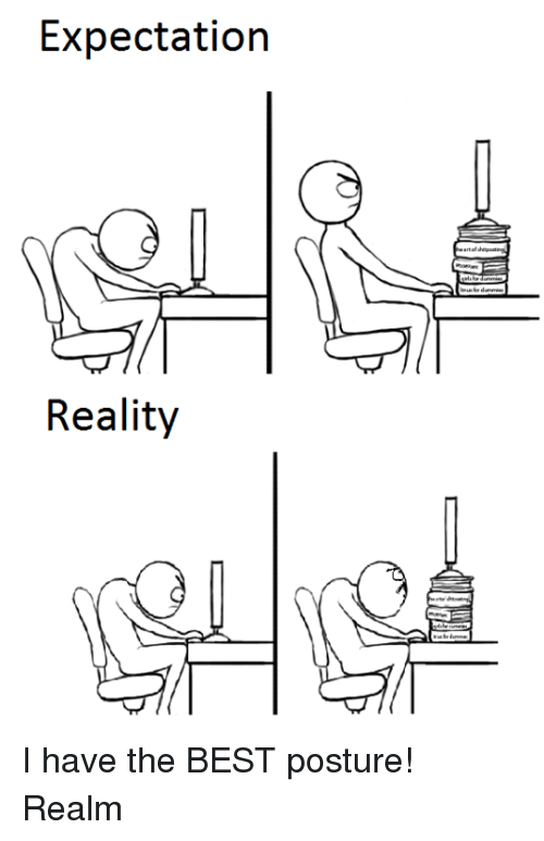 posturing: Expectation  Reality I have the BEST posture! Realm