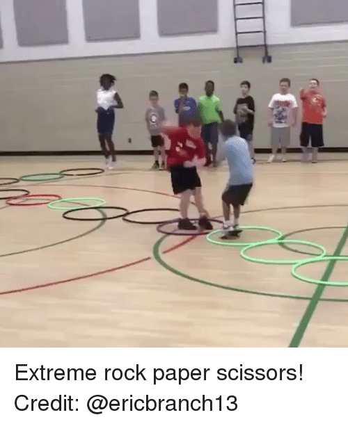 Memes, 🤖, and Rock: Extreme rock paper scissors! Credit: @ericbranch13