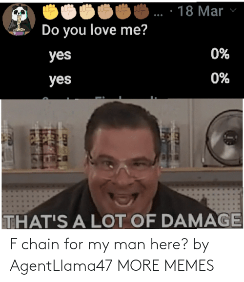 Here: F chain for my man here? by AgentLlama47 MORE MEMES