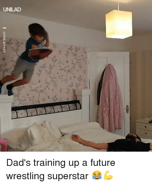Dank, Future, and Wrestling: f JAMIE BAKER Dad's training up a future wrestling superstar 😂💪