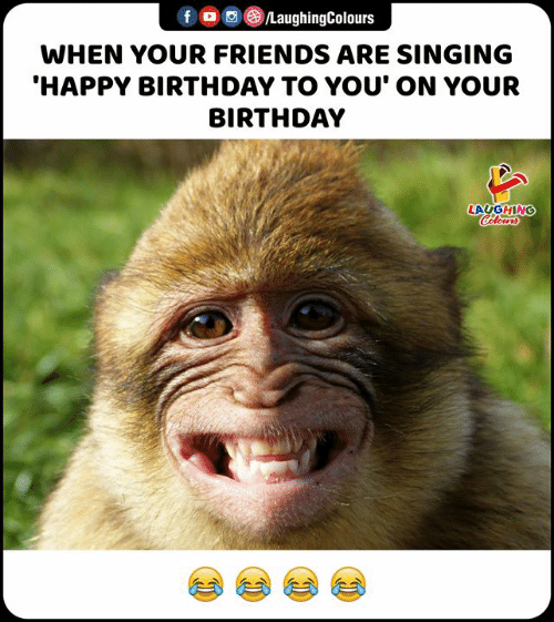happy birthday to you: f /LaughingColours  WHEN YOUR FRIENDS ARE SINGING  'HAPPY BIRTHDAY TO YOU' ON YOUR  BIRTHDAY  LAUGHING  Colours