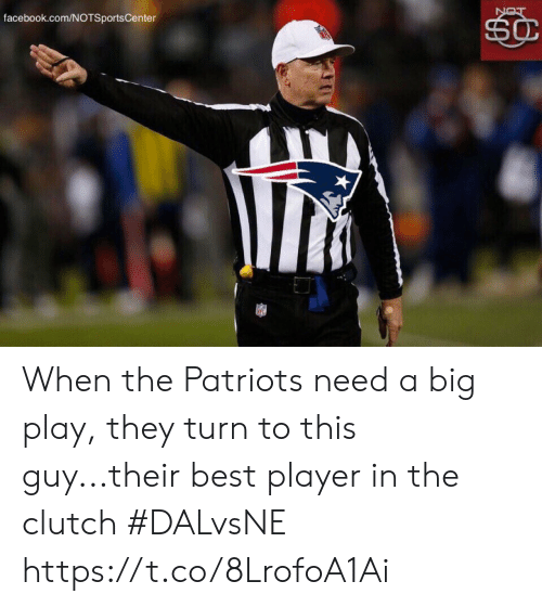 facebook.com: facebook.com/NOTSportsCenter  SC  LON When the Patriots need a big play, they turn to this guy...their best player in the clutch #DALvsNE https://t.co/8LrofoA1Ai