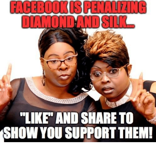 "Them, You, and Show: FACEBOOKIS PENALIZING  ""LIKE"" AND SHARE TO  SHOW YOU SUPPORT THEM!"