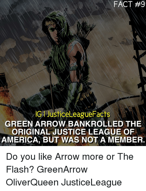 fact 9 justiceleaguefacts green arrow bankrolled the original