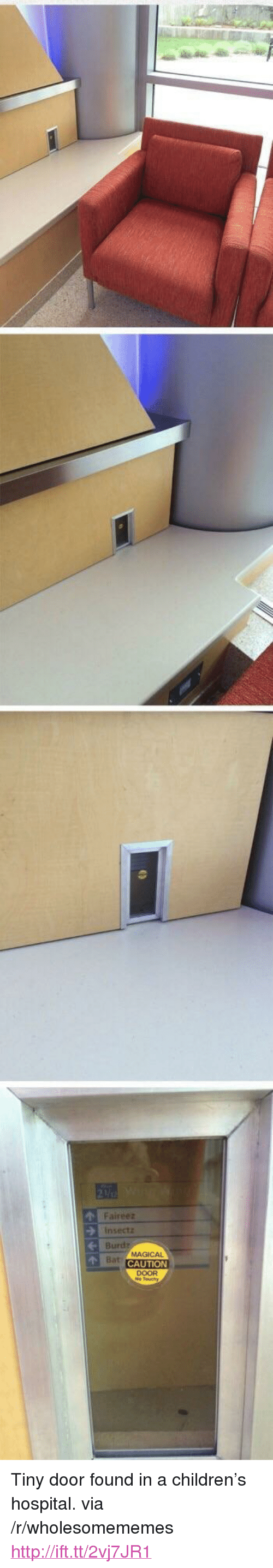 "Touchy: Faireez  insectz  Burdz  CAUTION  DOOR  o Touchy <p>Tiny door found in a children&rsquo;s hospital. via /r/wholesomememes <a href=""http://ift.tt/2vj7JR1"">http://ift.tt/2vj7JR1</a></p>"